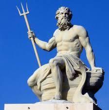 Poseidon Looking at his New Mountain